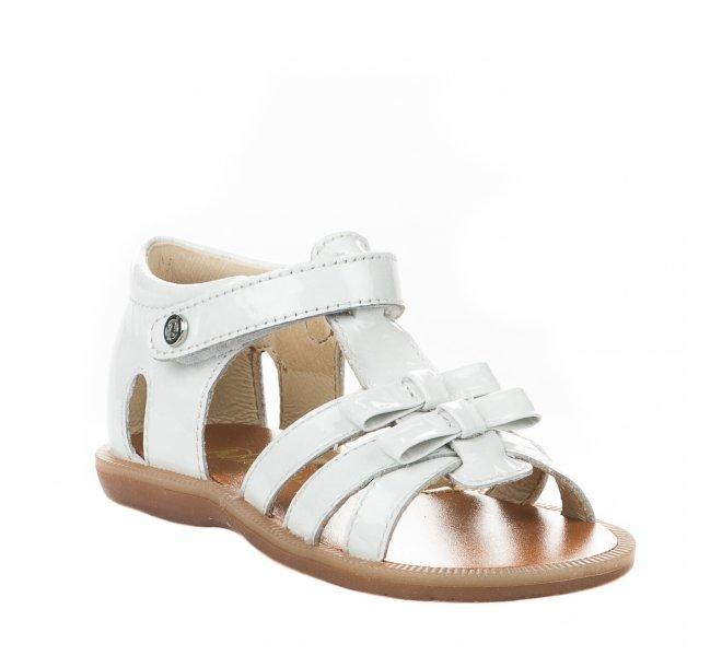Nu-pieds fille - NATURINO - Blanc verni