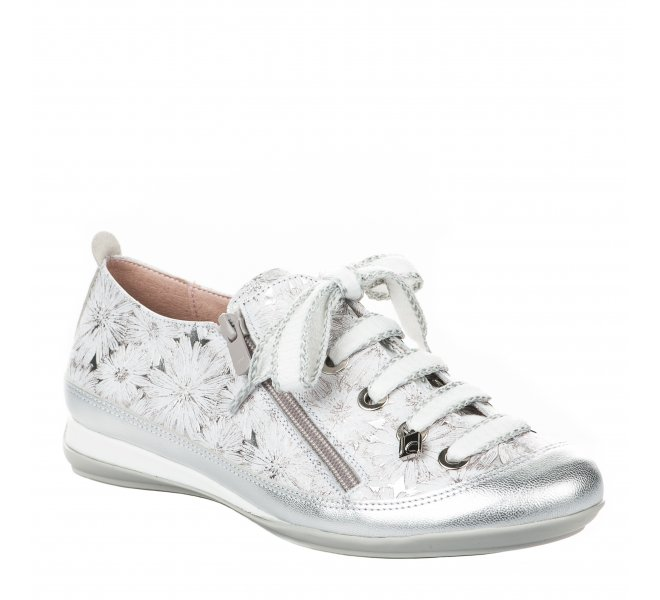 Chaussures de confort fille - JOSE SAENZ - Gris argent