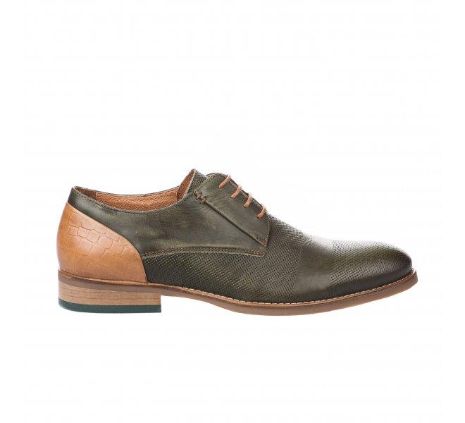 Chaussures à lacets garçon - FIRST COLLECTIVE - Kaki