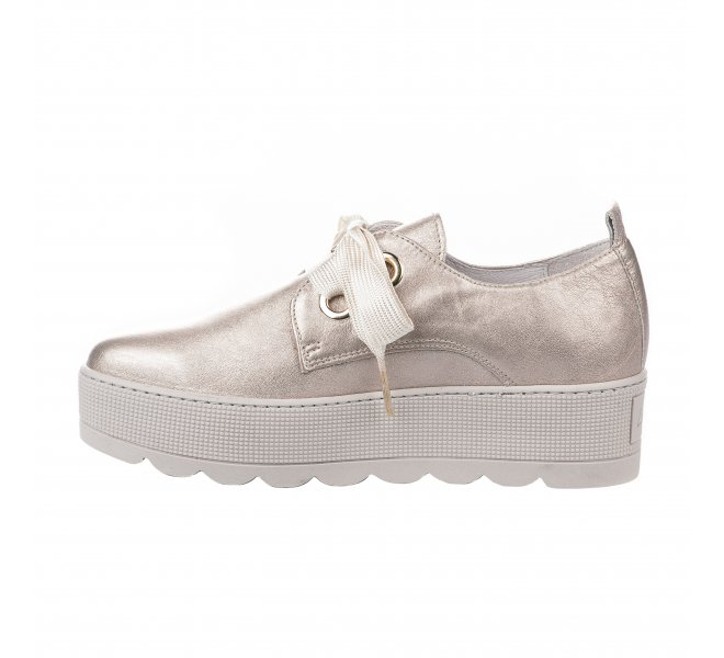 Chaussures à lacets fille - LOUISA - Beige rose