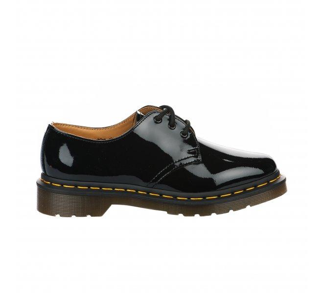 Chaussures à lacets fille - DR MARTENS - Noir verni