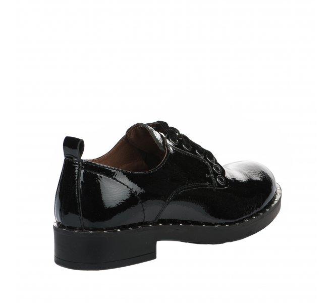 Chaussures à lacets fille - MIGLIO - Noir verni