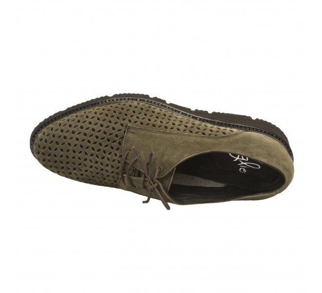 Chaussures à lacets fille - MIGLIO - Kaki