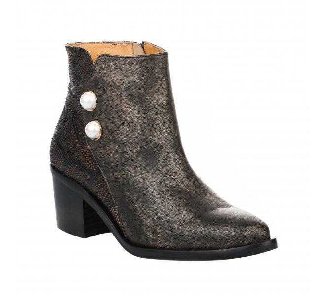 Boots fille - HDC - Marron