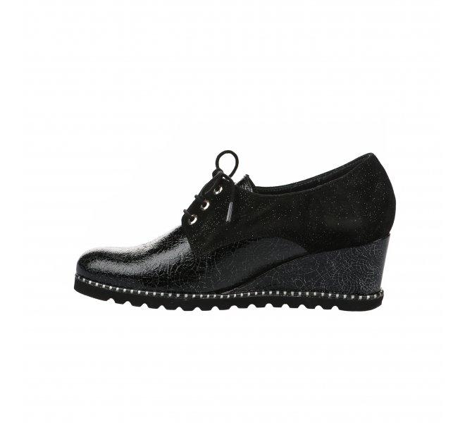 Chaussures à lacets fille - UN TOUR EN VILLE - Noir