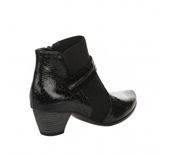 Boots fille - UN TOUR EN VILLE - Noir verni