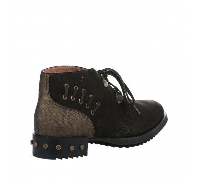 Chaussures à lacets fille - MAM'ZELLE - Kaki