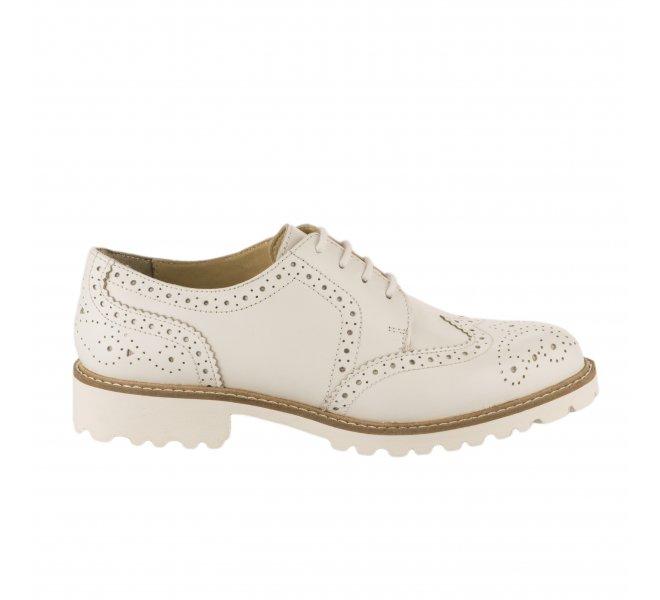 Chaussures à lacets fille - KICKERS - Blanc