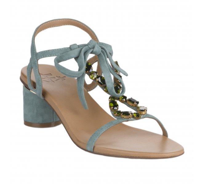 Nu pieds fille - FEMME  PLUS - Vert d'eau
