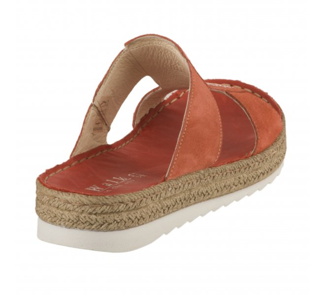 Mules fille - WALK IN THE CITY - Rouge