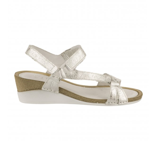 Nu pieds fille - WALK IN THE CITY - Gris argent