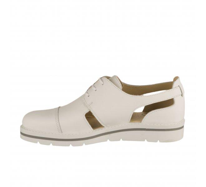 Chaussures à lacets fille - MIGLIO - Blanc