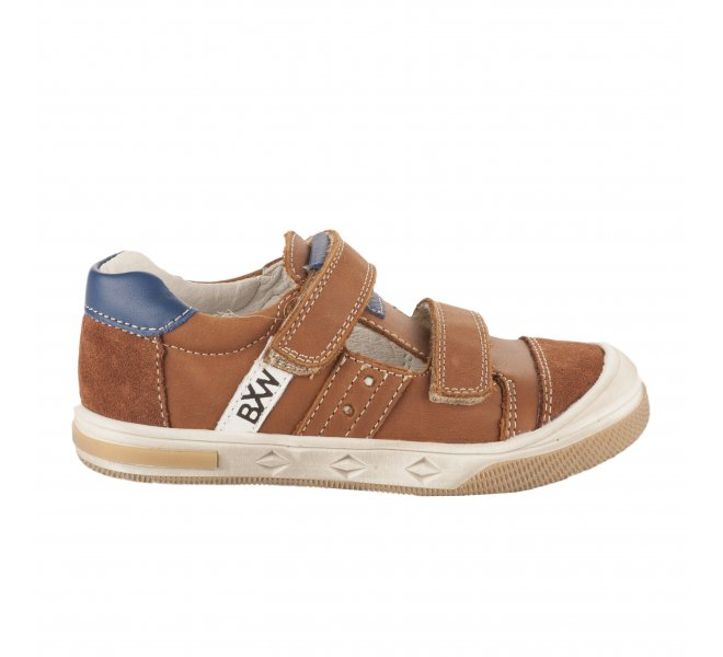 Chaussures à lacets garçon - BOPY - Naturel