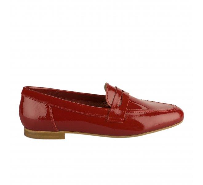 Mocassins fille - FANTASY - Rouge vernis