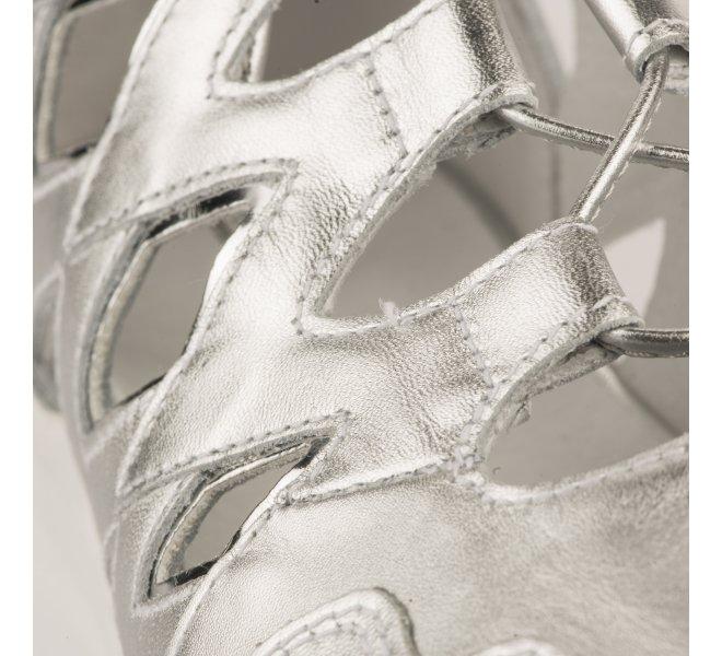 Baskets mode fille - NEROGIARDINI - Gris argent