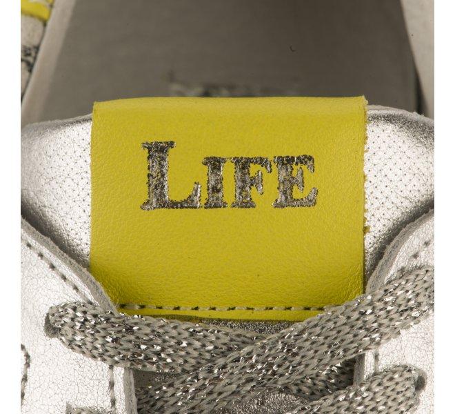 Baskets mode fille - LIFE - Gris argent