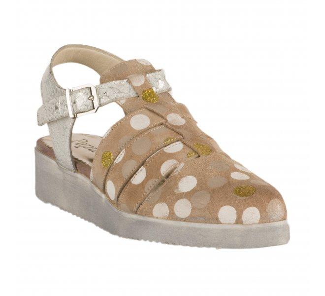 Chaussures à lacets fille - PAPUCEI - Beige