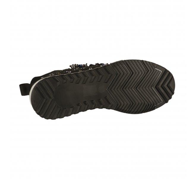Baskets mode fille - FEMME PLUS - Noir