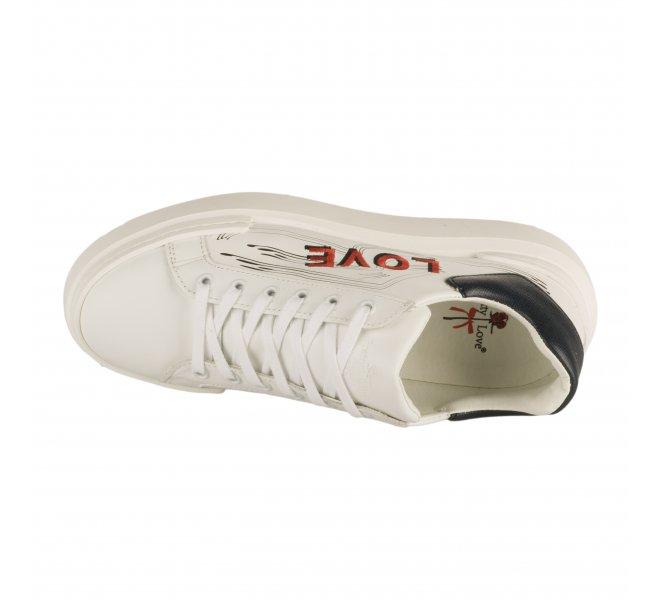 Baskets mode fille - PRETTY LOVE - Blanc
