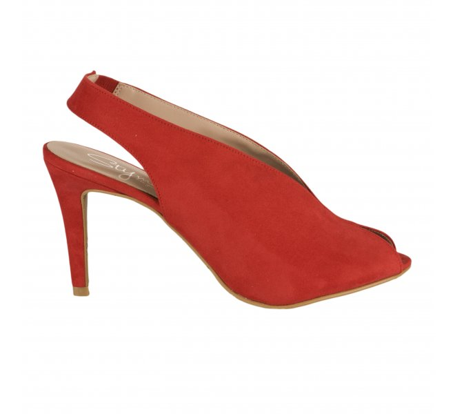 Nu pieds fille - STYME - Rouge