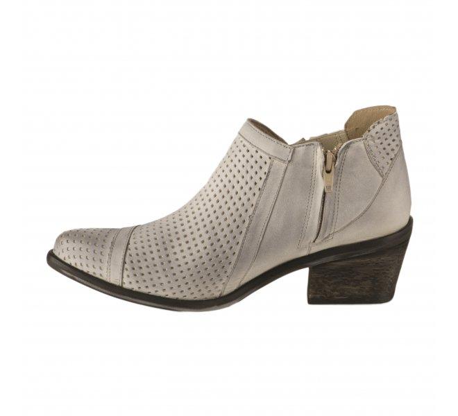Boots fille - CASTA  - Blanc casse