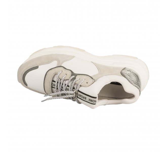 Baskets mode fille - BRONX - Blanc
