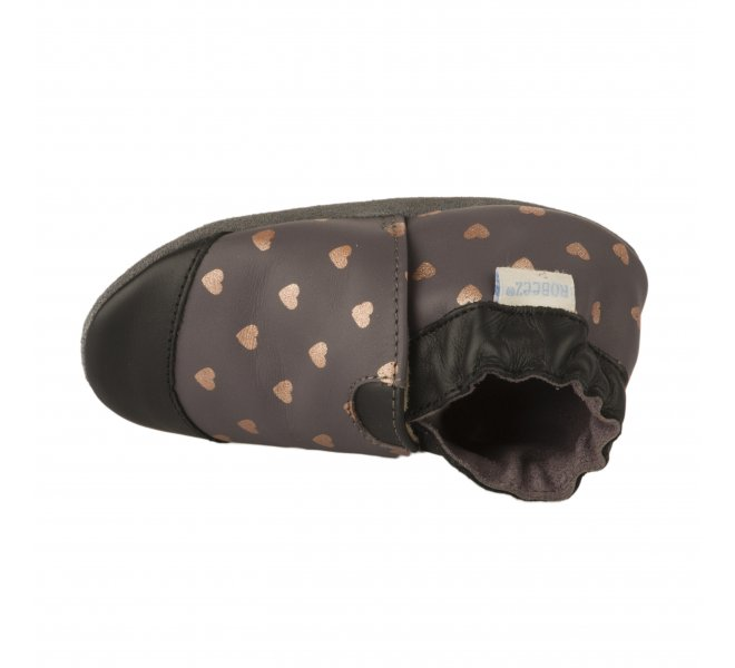 Chaussons fille - ROBEEZ - Gris fonce