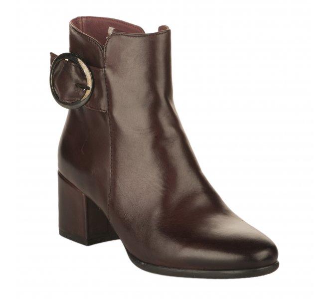 Boots fille - MIGLIO - Rouge bordeaux