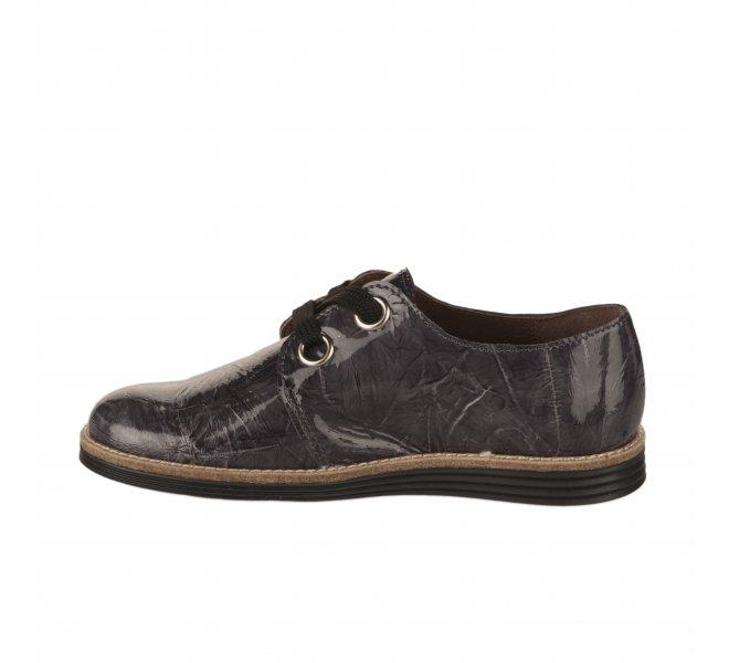 Chaussures a lacets fille - FéTéLACé - Gris verni