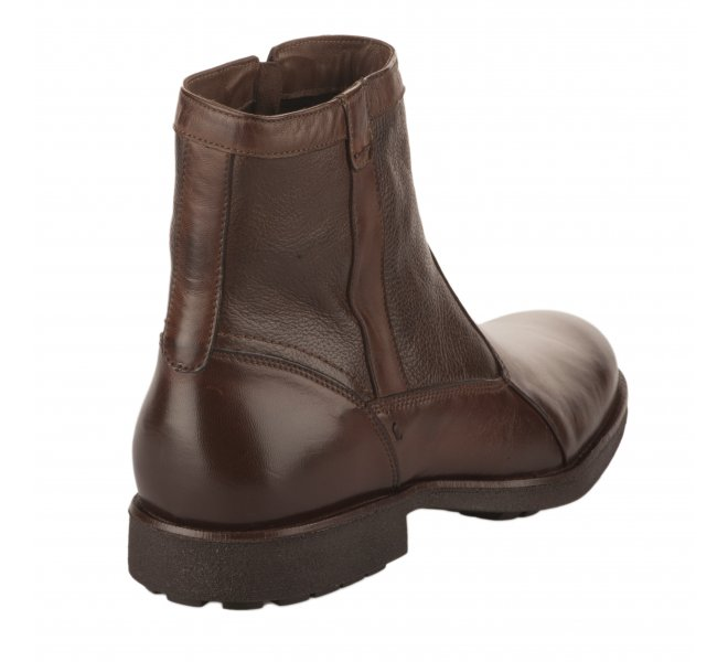 Boots garçon - FIRST COLLECTIVE - Marron fonce