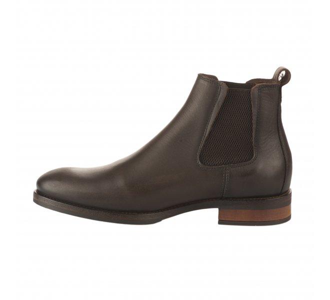 Boots garçon - FIRST COLLECTIVE - Marron fonce