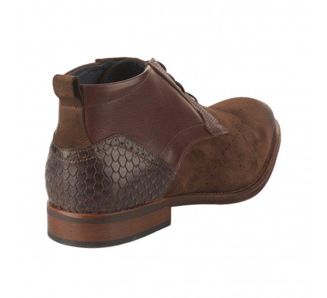 Chaussures à lacets garçon - FIRST COLLECTIVE - Marron