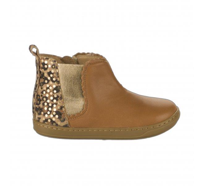 Boots fille - SHOO POM - Naturel