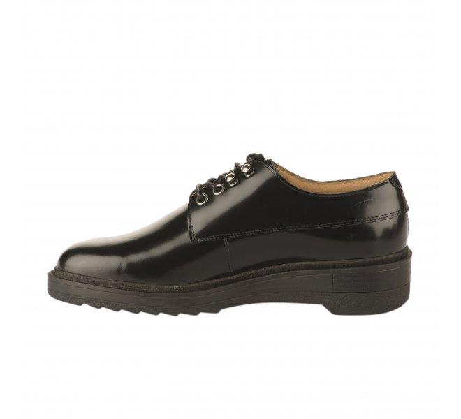 Chaussures à lacets fille - KICKERS - Noir