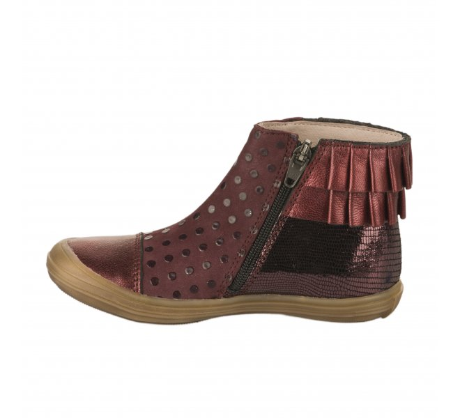 Boots fille - BELLAMY - Rouge bordeaux
