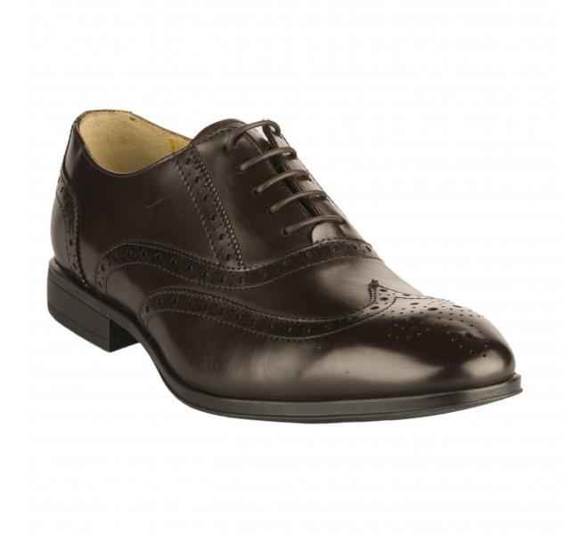 Chaussures à lacets garçon - STEPTRONIC - Marron fonce