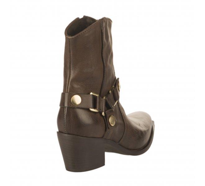 Boots fille - MIGLIO - Marron fonce