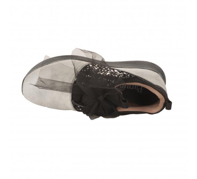 Chaussures à lacets fille - PAPUCEI - Blanc casse
