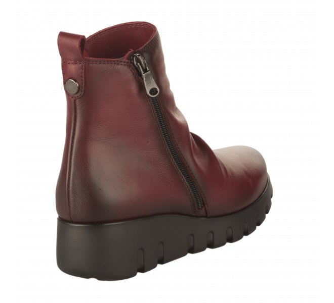 Boots fille - PAULA URBAN - Rouge