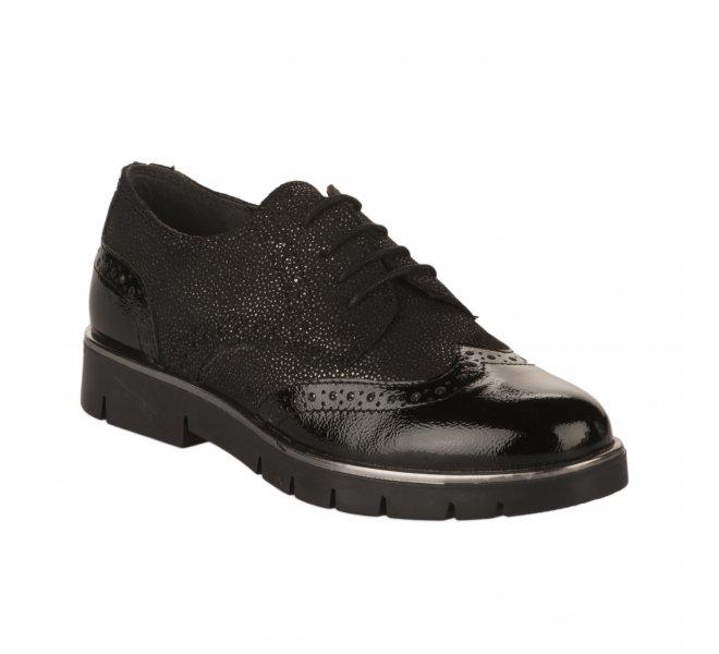 Chaussures a lacets fille - MIGLIO - Noir