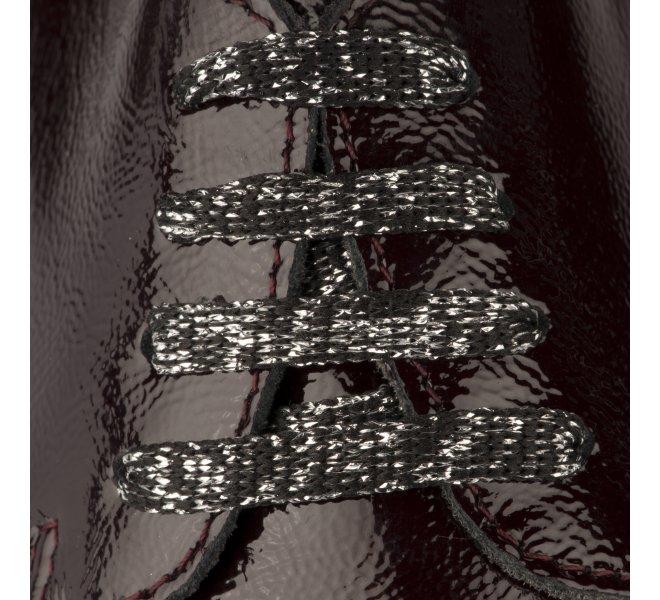 Chaussures à lacets fille - MIGLIO - Rouge bordeaux verni