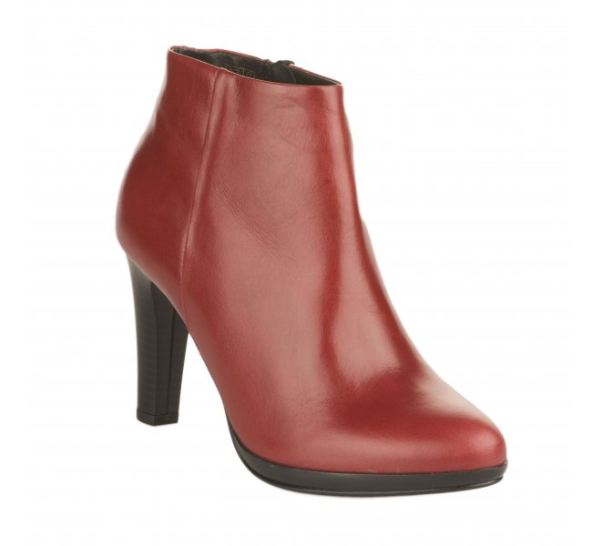 Boots fille - MIGLIO - Rouge