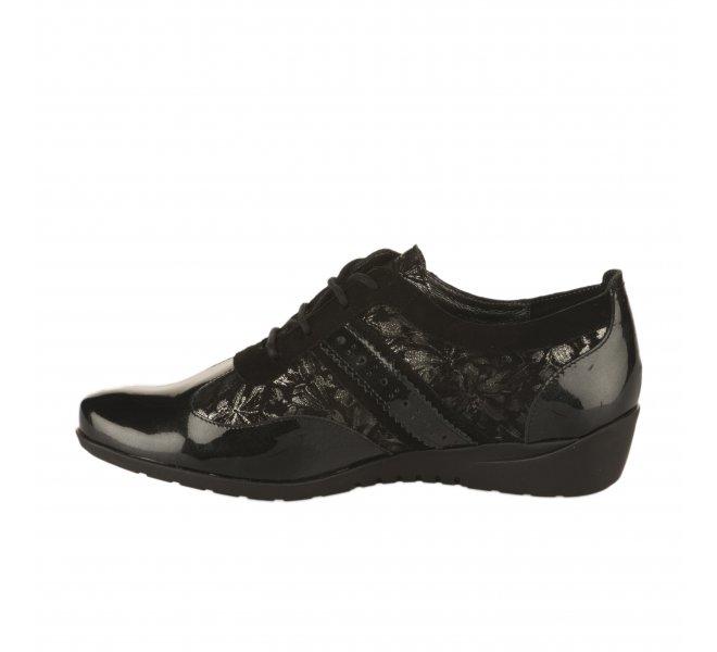 Chaussures à lacets fille - METAYER J - Noir
