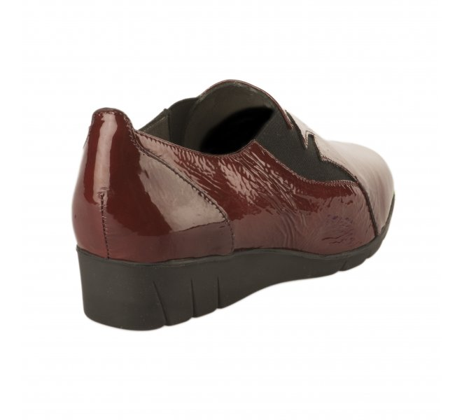 Chaussures de confort fille - PEDI GIRL - Rouge bordeaux