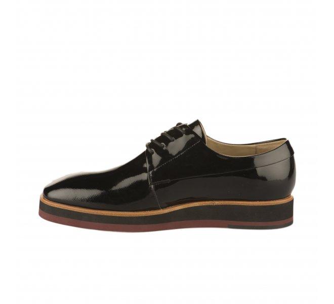 Chaussures à lacets fille - JB MARTIN - Noir verni
