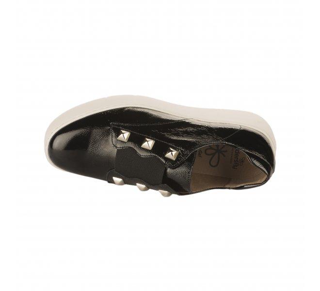 Baskets mode fille - WONDERS - Noir verni