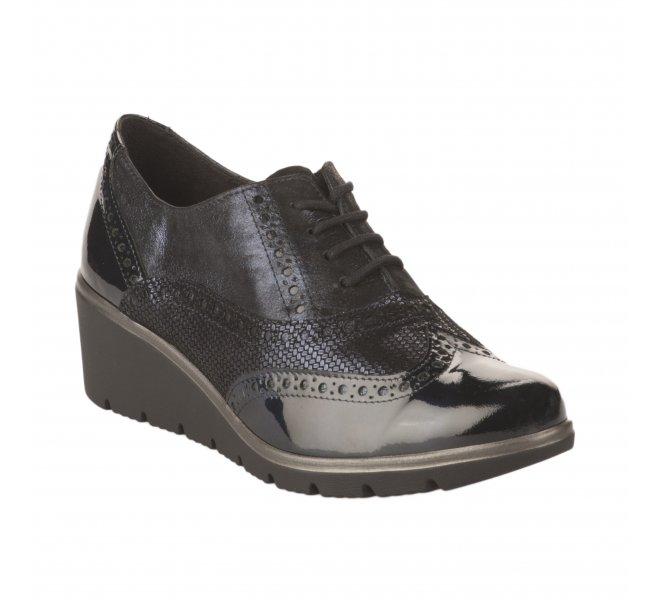 Chaussures à lacets fille - GEO REINO - Bleu marine