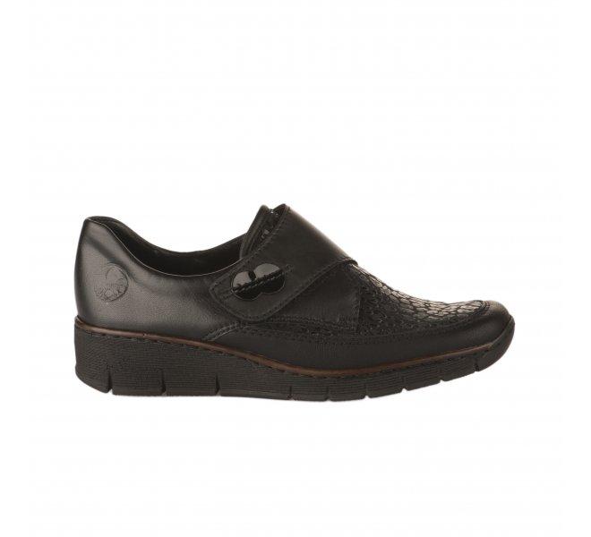 Chaussures à lacets fille - RIEKER - Noir