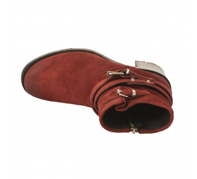 Boots fille - PAOYAMA - Rouge