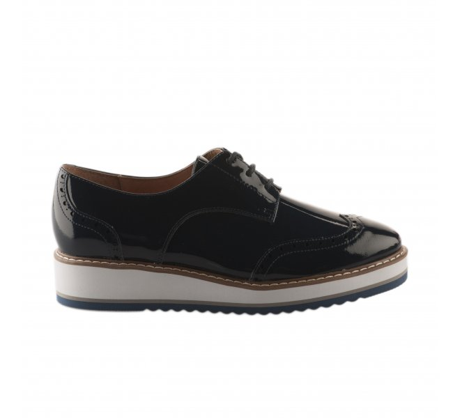 Chaussures à lacets fille - EMILIE KARSTON - Bleu marine verni